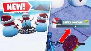 *NEW* Sneaky Snowman Item! [ALL Abilities] (Fortnite)