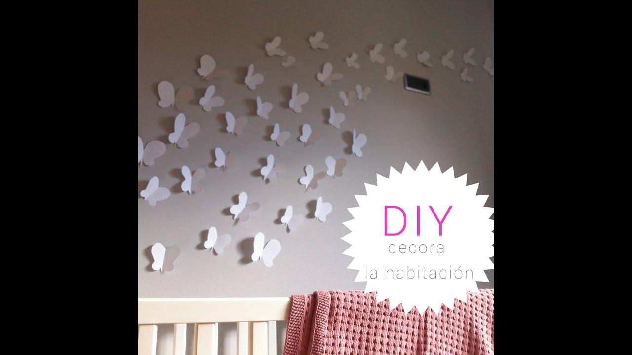 Diy decora la habitaci n del beb mariposas y corazones - Como decorar la habitacion de un bebe ...