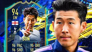 THIS CARD IS RIDICULOUS! 😱 94 TOTS SON PLAYER REVIEW! - FIFA 21 Ultimate Team