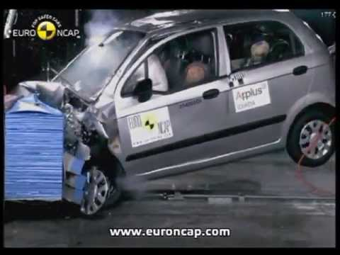 Euro Ncap Chevrolet Matiz 2005 Crash Test Youtube