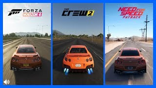 Forza Horizon 4 Vs The Crew 2 Vs NFS PayBack Nissan GTR Sound Comparison