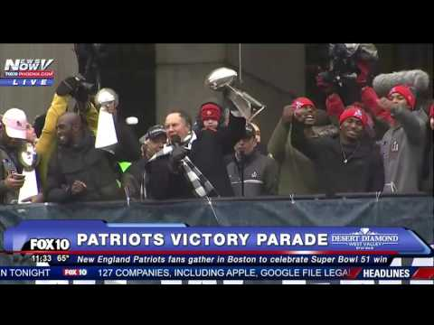 EPIC: New England Patriots Super Bowl 51 Victory Celebration Speeches Featuring Tom Brady (FNN)