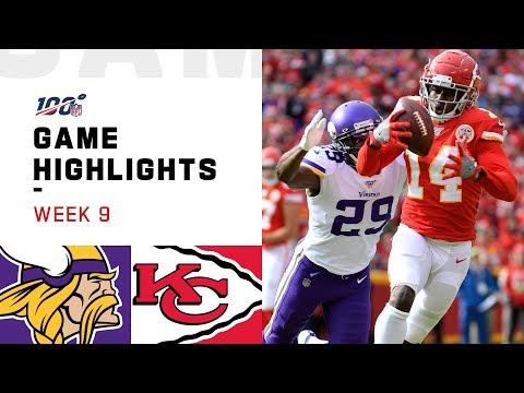 Vikings Vs. Chiefs Week 9 Highlights | NFL 2019
