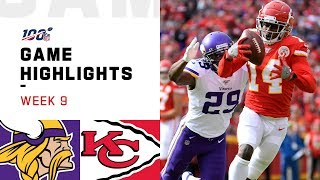 Vikings vs. Chiefs Week 9 Highlights | NFL 2019