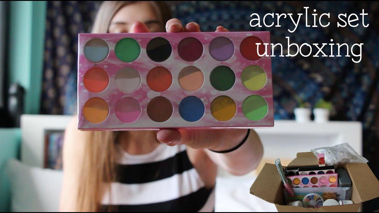 Ebay Acrylic Nail Kit Unboxing | Nina Holly - YouTube
