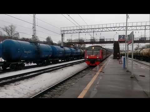 Электропоезд ЭД4М-0449 станция Яхрома 17.02.2020