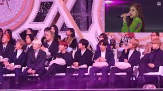 BTS reaction to Blackpink AS IF IT'S  YOUR LAST in 2018 Golden Disc Awards