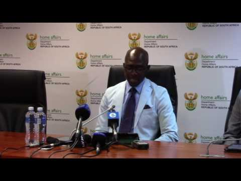 MEDIA BRIEFING BY MINISTER GIGABA ON LSP - Sunday 29 January 2017