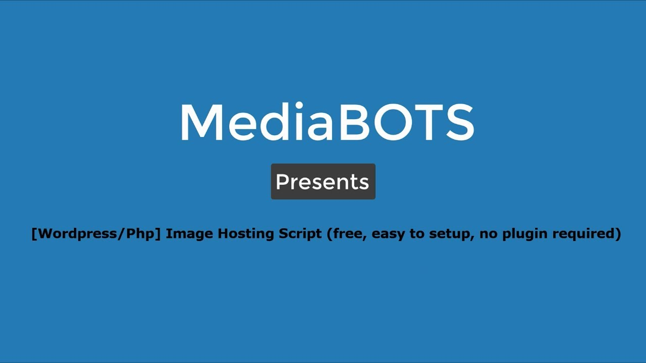 [Wordpress/Php] Image Hosting script or theme (Free)