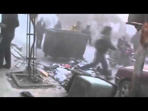 Syria   Douma   New Air Raid With MiG jet fighters   Dec 26, 2012.