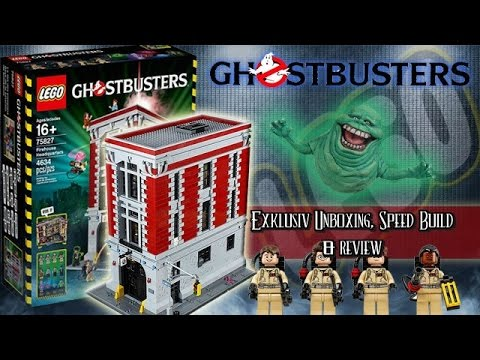 Lego Ghostbusters Firehouse Headquarters Set 75827 - Speed Build And Review (German)