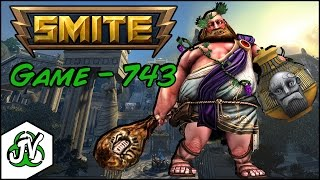 Smite Gameplay - Game 743 - Bacchus Solo