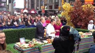 Cake Boss Buddy Valastro promoting new recipes book at GMA in Times Square, New York