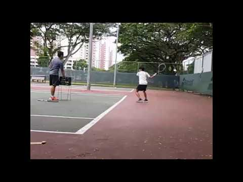 Free Trial Tennis Lesson in Singapore at Bedok Tennis Centre