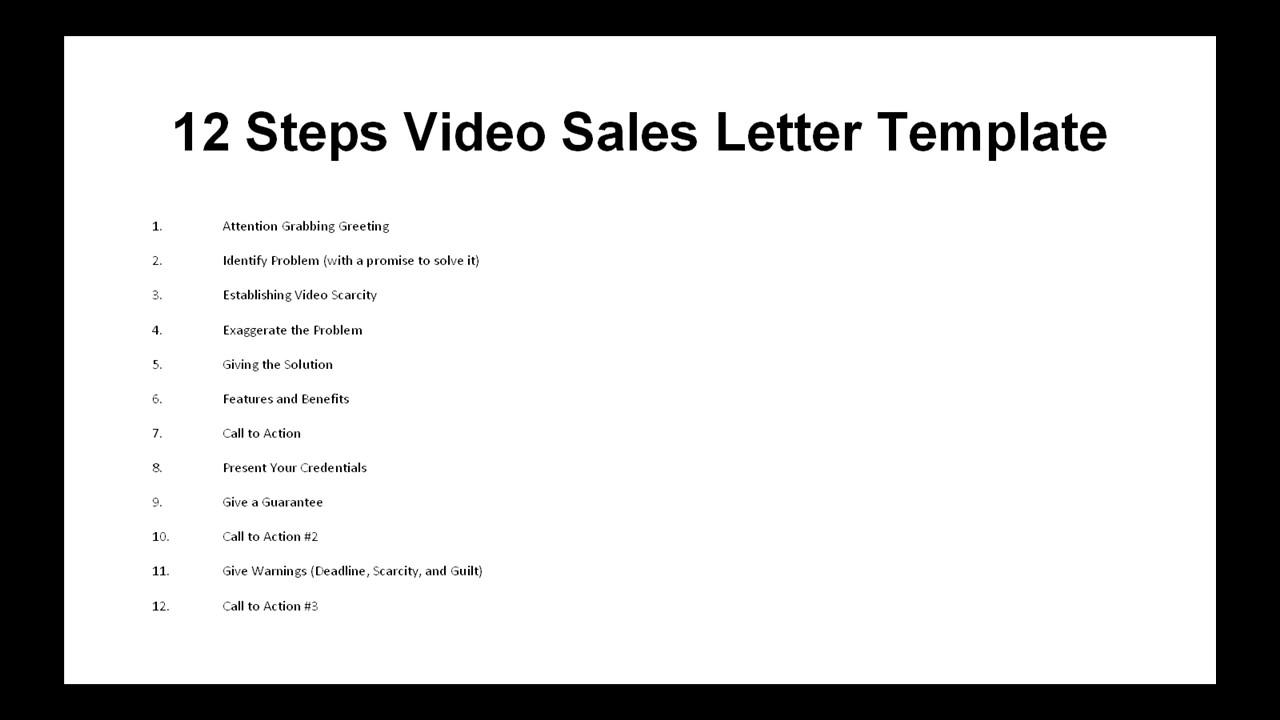 8 Video Sales Letter Formula Youtube