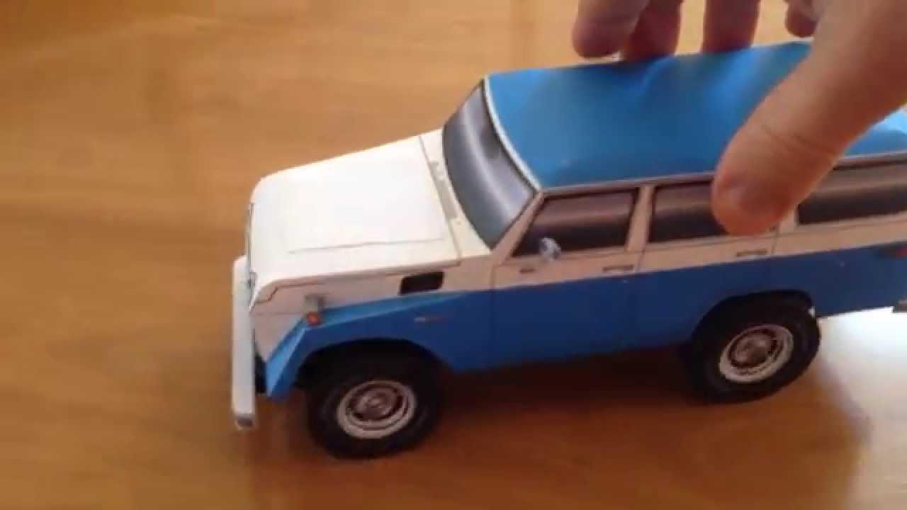 Papercraft Toyota FJ55 Landcruiser paper model