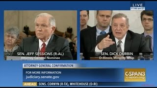 Illinois Sen Dick Durbin Grills Sen Sessions About Not Answering Him, Even Though He DID