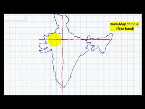 DRAW - MAP OF INDIA-(free hand)