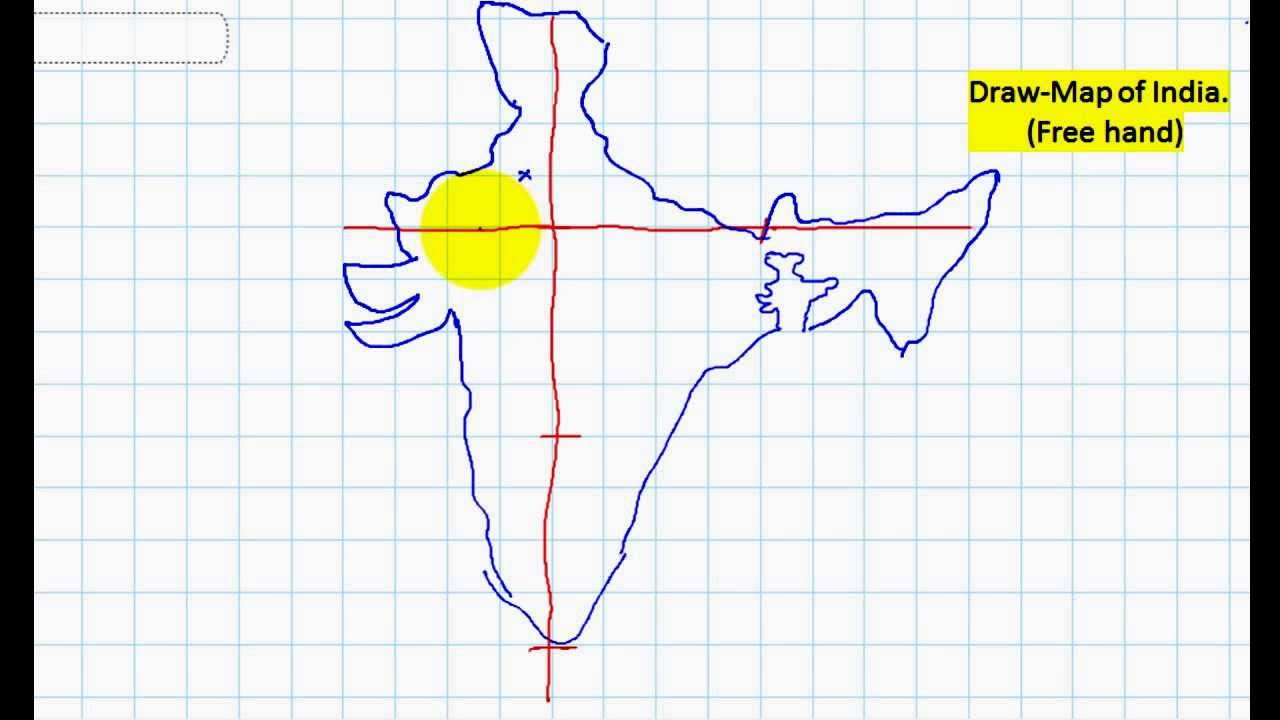 draw map of india free hand youtube