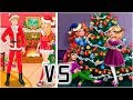 Girls and Boyfriend Play Christmas Dress Up and Tree Decoration Games Compilation