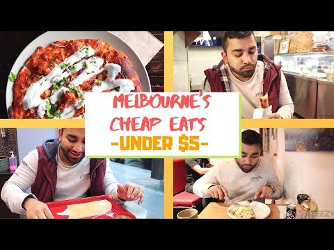 BEST CHEAP EATS MELBOURNE  (UNDER $5)