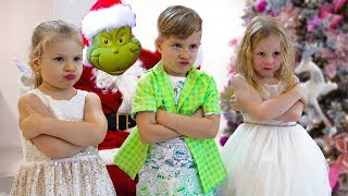 Stacy, Diana y Roma en una historia de Navidad para niños