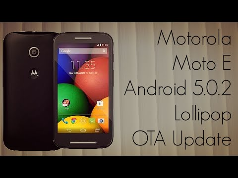 Motorola Moto E Official Android 5.0.2 Lollipop OTA Update