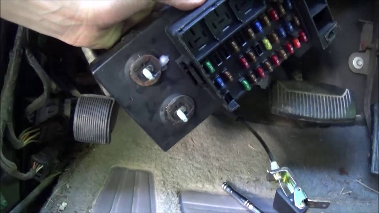 1997 F 150 4x4 GEM Module Removal Tips amp Time Lapse YouTube