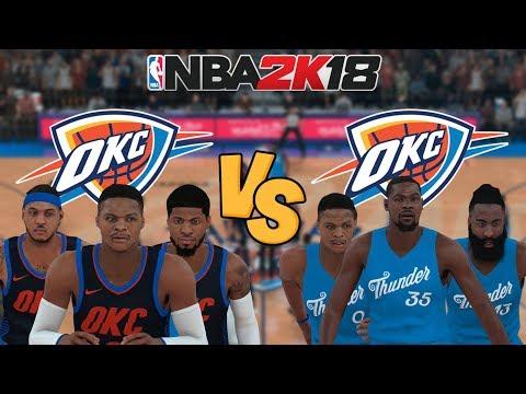NBA 2K18 - Oklahoma City Thunder vs. '11-'12 Oklahoma City Thunder (KD and Harden!) - Full Gameplay