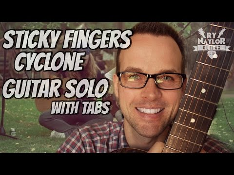 Cyclone Sticky Fingers Guitar Solo Lesson with TAB