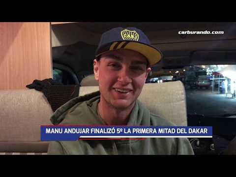 Manu Andujar finalizó 5to la primera mitad del Dakar