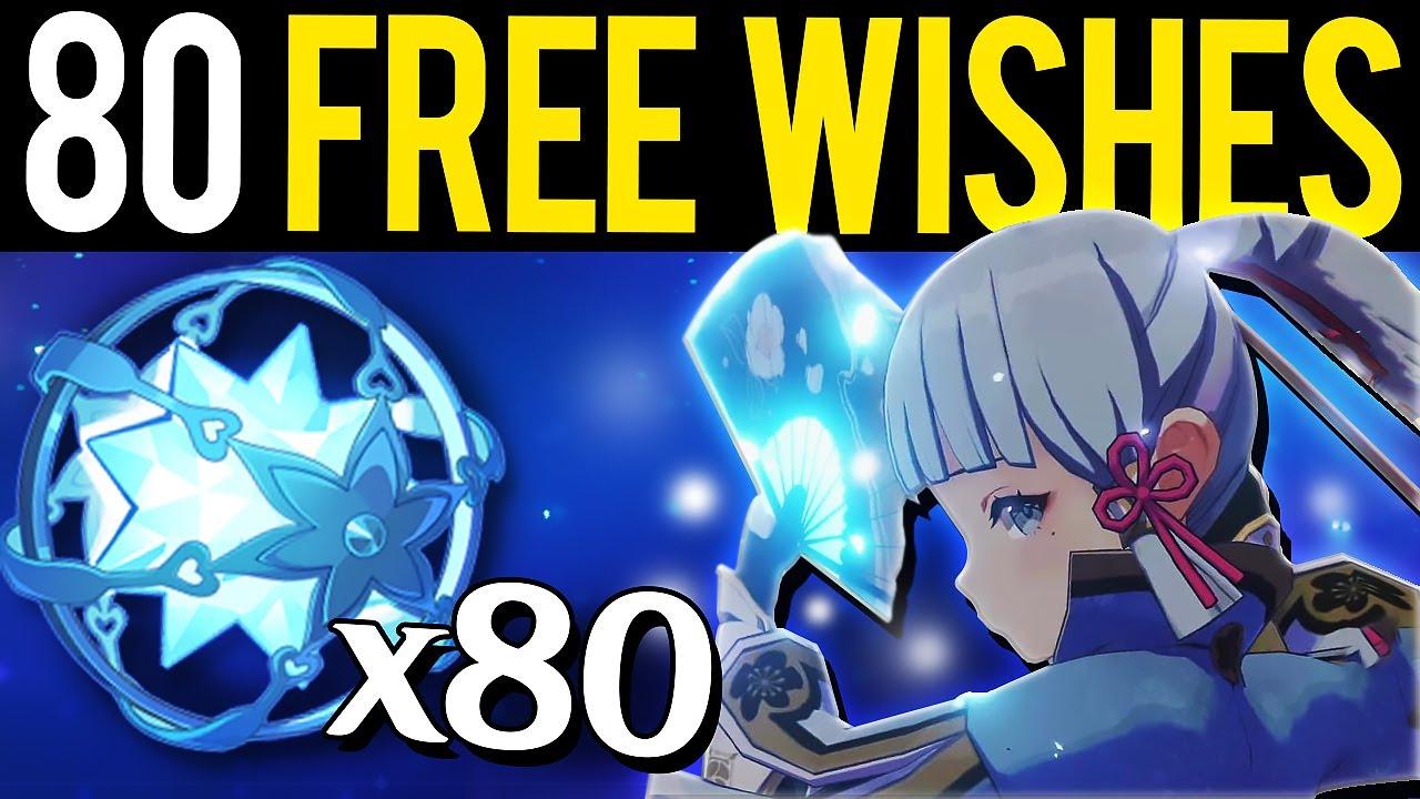 New Update 1 2 Info 80 Free Wishes Omg Genshin Impact Youtube