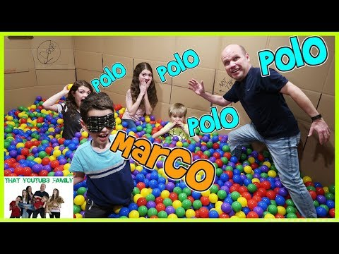 MARCO POLO In BOX FORT BALL PIT / That YouTub3 Family