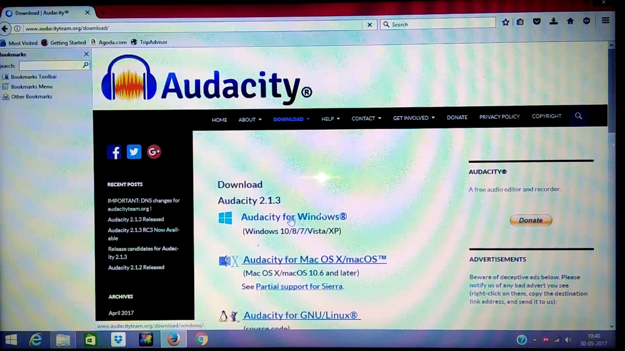 download audacity for windows xp free