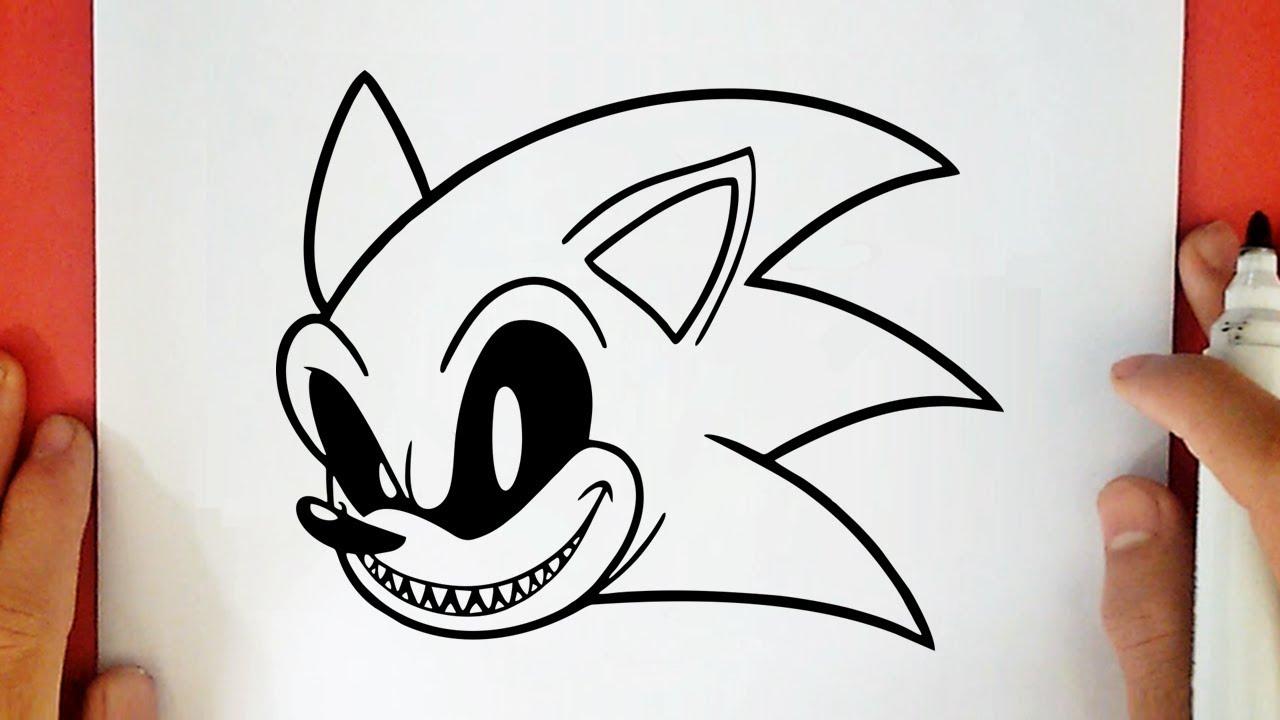 Como Desenhar O Sonic Exe Youtube