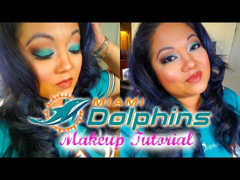 miami-dolphins-makeup-tutorial-|-cici-b.-glam