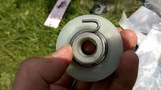 Ремонт стартера триммера Интерскол КБ-25/33в.