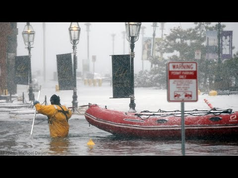 Massachusetts copes with flooding as Nor'easter batters coastal areas