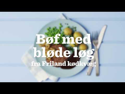 Bøf med bløde løg af dansk FRILAND KØDKVÆG
