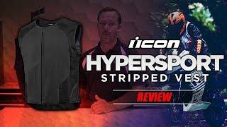 ICON Hypersport Stripped Vest Review | BikeBandit.com