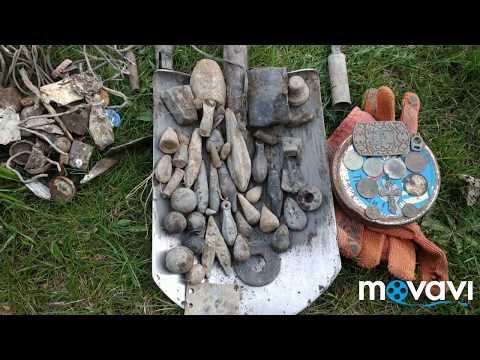 Поиск свинца на берегу озера с металлоискателем Minelab X-terra 705