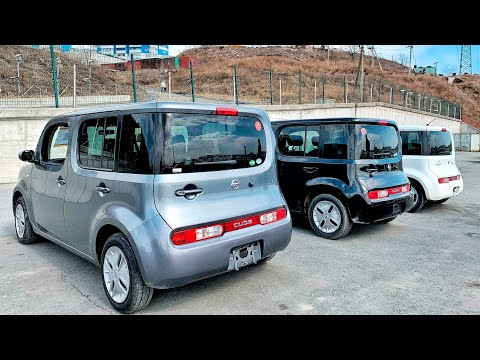 Удивительный дизайн Nissan CUBE. Обзор трёх комплектаций. Новый привоз!