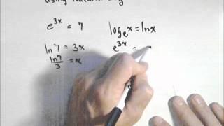 Solving an Exponential Equation Using Natural Log