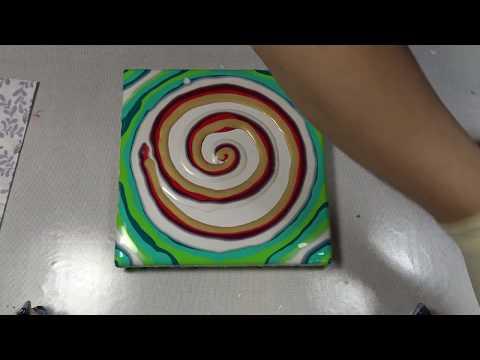 (233) Reverse flower dip without base coat - Acrylic pouring technique - Fluid art