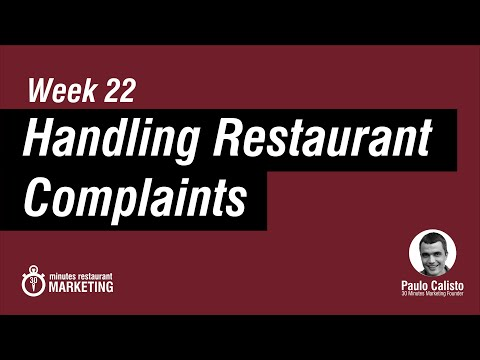 Handle Customer Complaints in a Restaurant