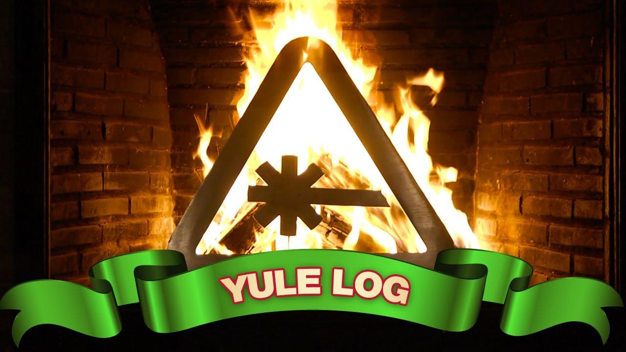 nerdist laser yule log youtube fireplace youtube