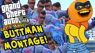 Annoying Orange - GTA V: BUTTMAN MONTAGE! (Funniest Moments)