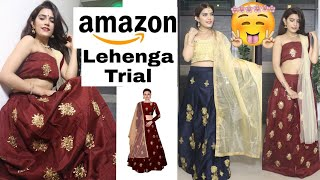 I Tried LEHENGAs From AMAZON | Starts (450 Rs.😬) | Try On Haul | Super Style Tips