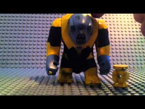 Lego yellow lantern arkillo custom - YouTube