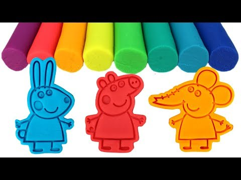 Peppa Pig Best Friends Play Doh Molds & Surprise Toys Rebecca Rabbit Emily Elephant Suzy Sheep Toys